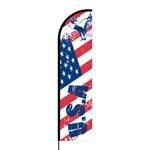 USA Flex Banner Flag - 16ft (Single Sided)